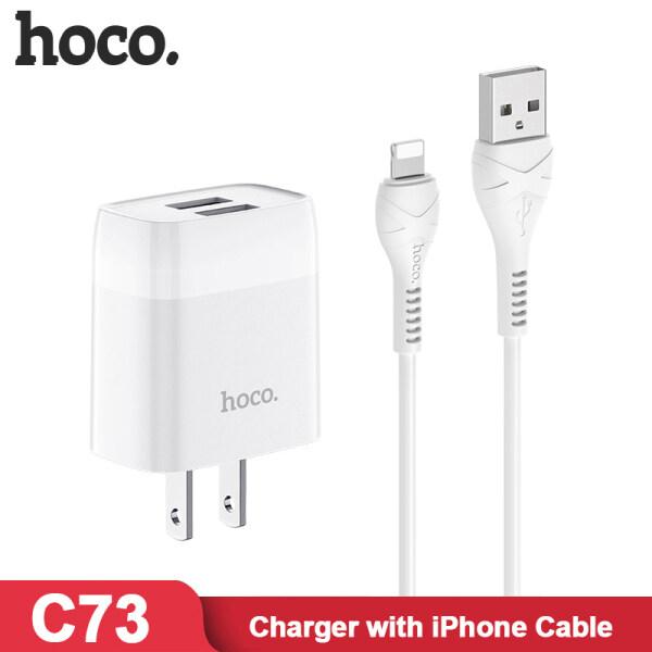 HOCO C73 2.4A Bộ Sạc Cổng USB Kép Với iPhone Micro USB Type C Cáp Bộ Sạc Điện Thoại Di Động 2in1 + Cáp