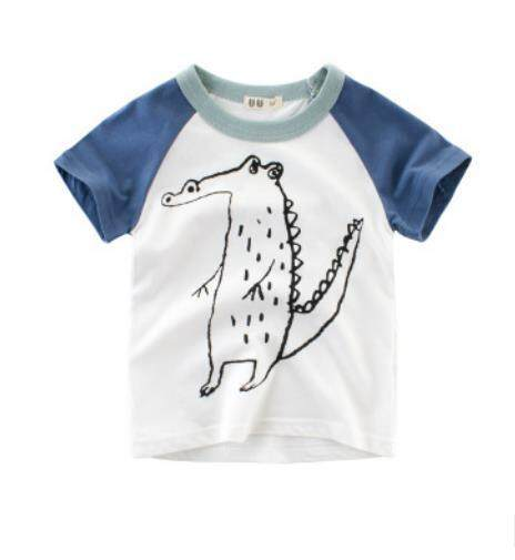 5f3df36b5dc2 Kids tshirt animal print Cotton 2019 Summer toddler boy shirt shark Printed  Short Sleeve baby girl