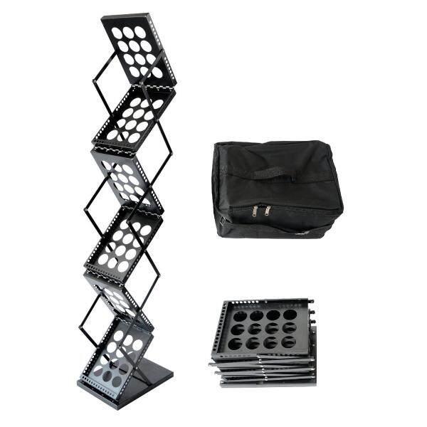Foldable Pop Up Metal Brochure Literature Catalog Holder Rack Stand Trade Show Display