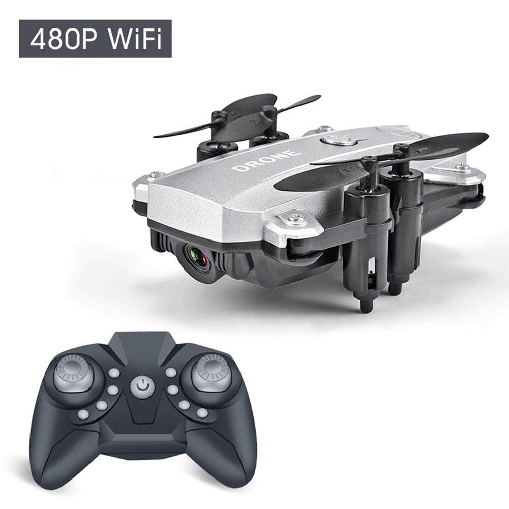 Qinm9 พับคอปเตอร์สี่ใบพัดขนาดเล็ก Wifi เสียงพึมพำถ่ายภาพทางอากาศรีโมทคอนโทรลเครื่องบินของเล่นเด็กเครื่องบิน By Haoyisheng Store.