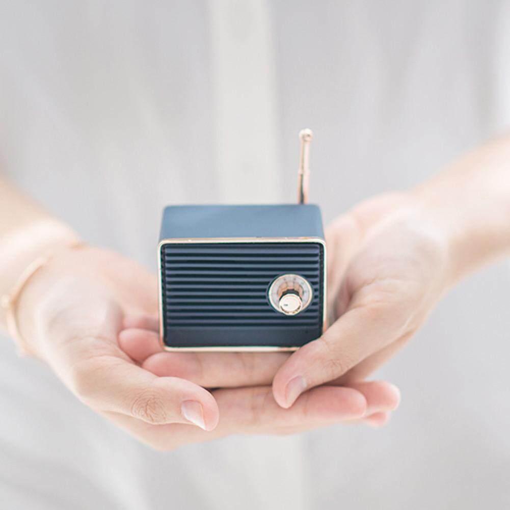 RD Retro Loa Bluetooth Mini Hoài Cổ Bass Nặng 3D Stereo Vòm Hifi Hiệu Ứng Âm Thanh Siêu Trầm