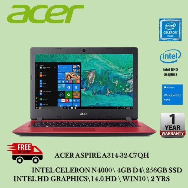 Acer Aspire 3 A314-32-C7QH 14 Laptop Oxidant Red ( Celeron N4020, 4GB, 256GB SSD, Intel , W10 ) Malaysia