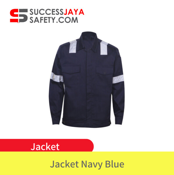 TANKER Reflector Jacket - Navy Blue Button Safety Jacket Workwear👷🏻 With Reflector