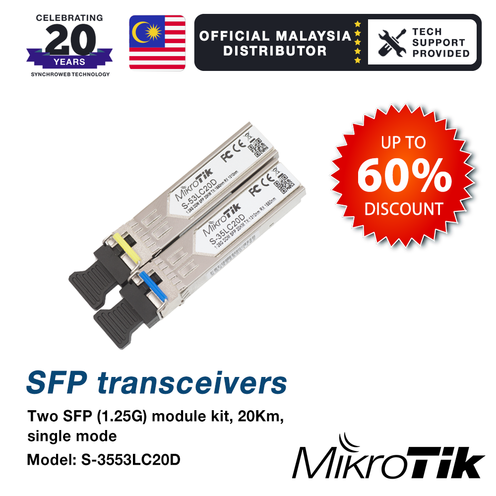 Mikrotik SFP Single Mode S-3553LC20D