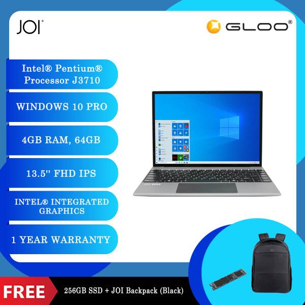 "JOI Book 200 Pro (Pentium J3710,4GB,64GB,13.5"",W10Pro,GRY) + Free 256GB SSD + JOI Backpack Black Malaysia"