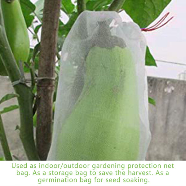 Fruit protection bag for fruit trees 50 pieces 6x10 inches (approximately 15.2 x 25.4 cm) nylon mesh fruit bag to prevent insects, mice, garden mesh bag, covering plants, fruits and flowers