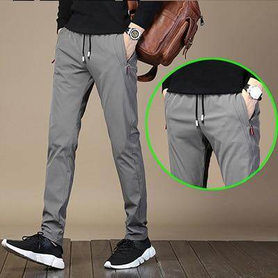 fb357a95 HCXY 2019 New Brand Spring Autumn Casual Men's Pants Men Elastic Waist  Pants Male Fast-drying Stretch fabric Drawstring