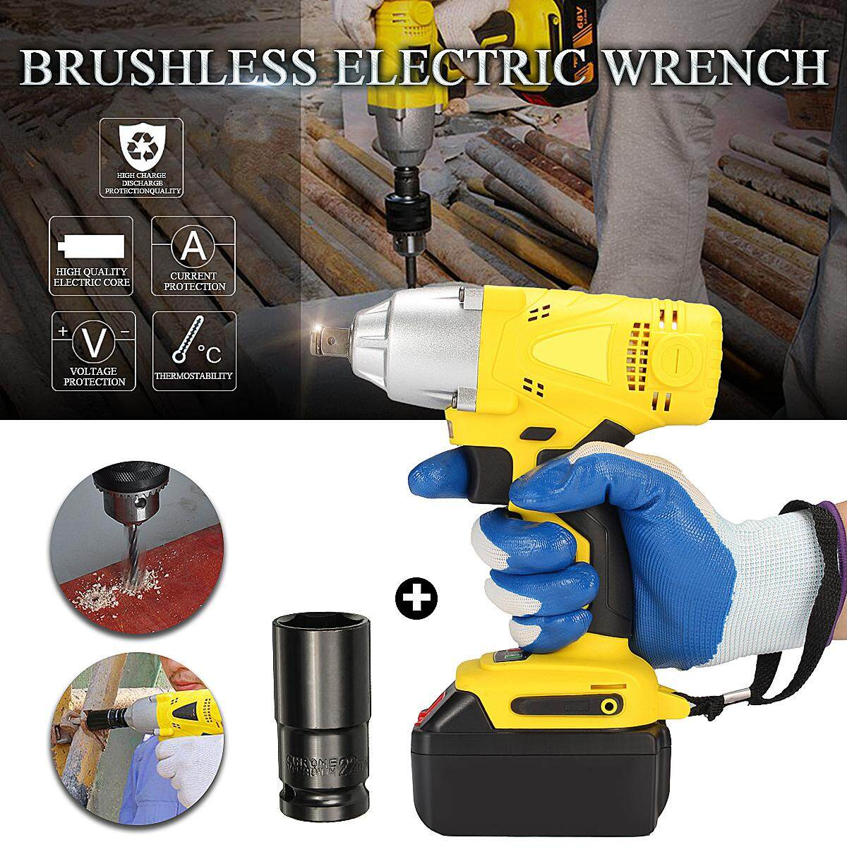 【Free Shipping + Flash Deal 】68-99V 340nm 3200RPM 11880mAh Cordless Brushless Impact Wrench Power Tool Home NEW