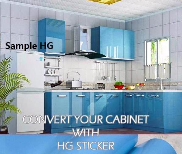 Hg Kabinet Wallpaper Light Blue glossy 10M