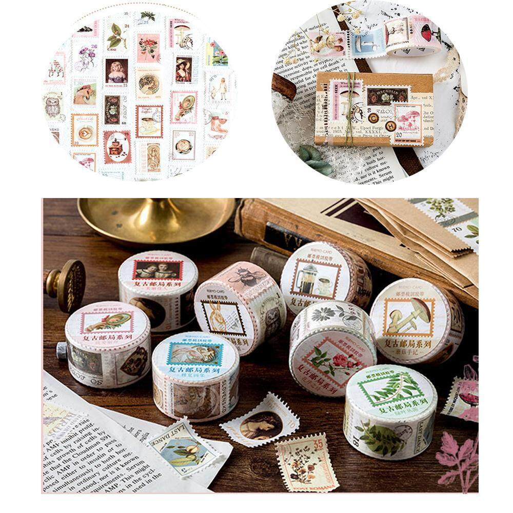 Coffee Plants  Post Office Series Paper Stickers Vintage Stamp  Die-cut Tape