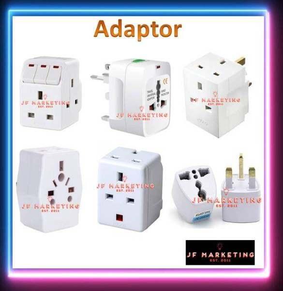 3 Way Adaptor With Neon light / 3 Way Multi Adaptor / Universal Plug Converter / All In One International Travel Adaptor