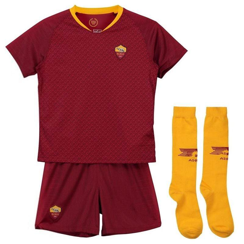 fdb527b53 (Free Socks) Children Top Quality Rome Home and Away and 3rd Football Jersey  Kit