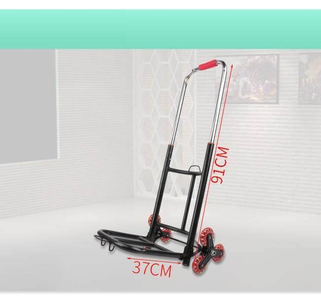 Heavy Duty 6 Wheels Portable Foldable Extendable Climb Stairs Hand Truck Trolley~Ready Stock~
