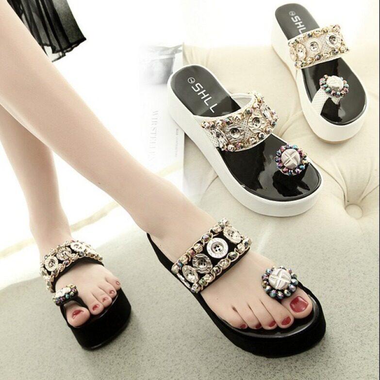 [Kho sẵn sàng] Giày sandal kiểu dáng mới, phong cách thời trang Hàn Quốc, bằng cao su để mang đi học - INTL giá rẻ