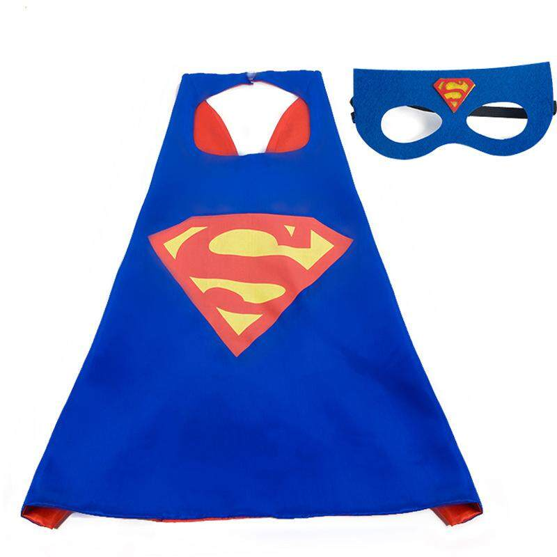 Party Hero Capes Dressing Up Costumes for Unisex Kids Comic Cartoon  Birthday Party Game Supplies Favors Mask + Capes