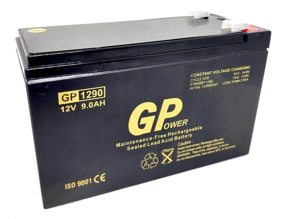 GPOWER 12V 9AH PREMIUM Rechargeable Sealed Lead Acid Battery For Electric Scooter/ Toys car / Bike /Solar /Alarm /Autogate/UPS/ Power Solution