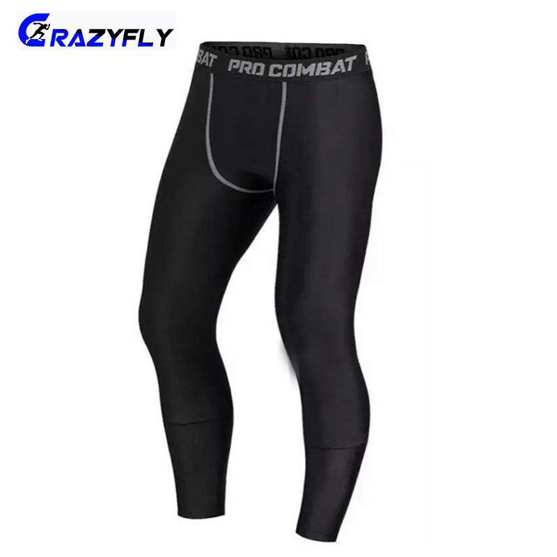 02fc17c97e Crazyfly Men Compression Pants Gym Fitness Sports Running Leggings Tights  Quick-drying Fit Training Jogging