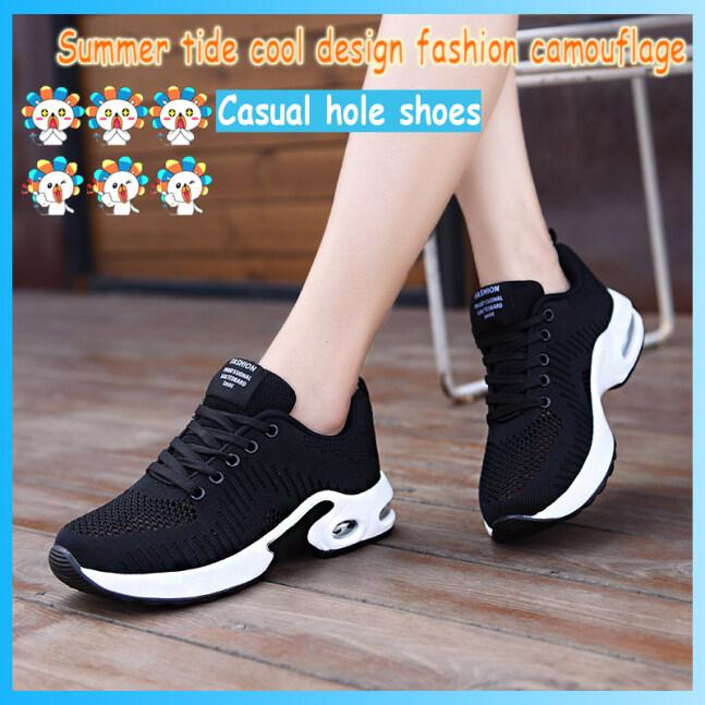 Giày Chạy Bộ Dành Cho Nữ Mới Giày Thường Ngày Thời Trang Phóng Túng Tính Năng Đệm Hơi Dưới Giày Thể Thao Giày Dệt Đi Nhẹ giá rẻ