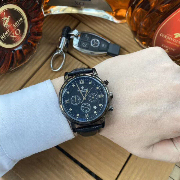 Asal Patek Philippes Menonton Fesyen Fasa Dial Dial Kulit Tali Jam Tangan Malaysia
