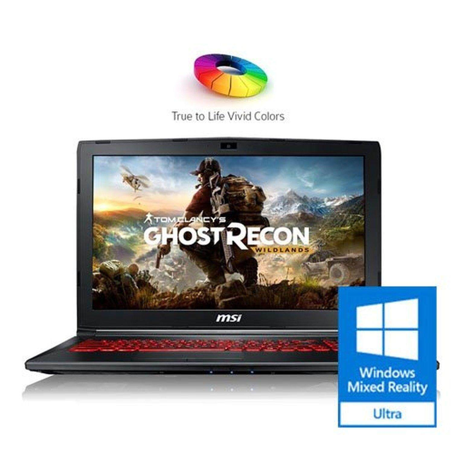 MSI GL62M 7REX-1896US 15.6 Full HD Thin and Light Gaming Laptop Computer Quad Core i7-7700HQ, GeForce GTX 1050Ti 4G Graphics, 8GB DRAM, 128GB SSD + 1TB Hard Drive, Steelseries Red Backlit Keyboard Malaysia