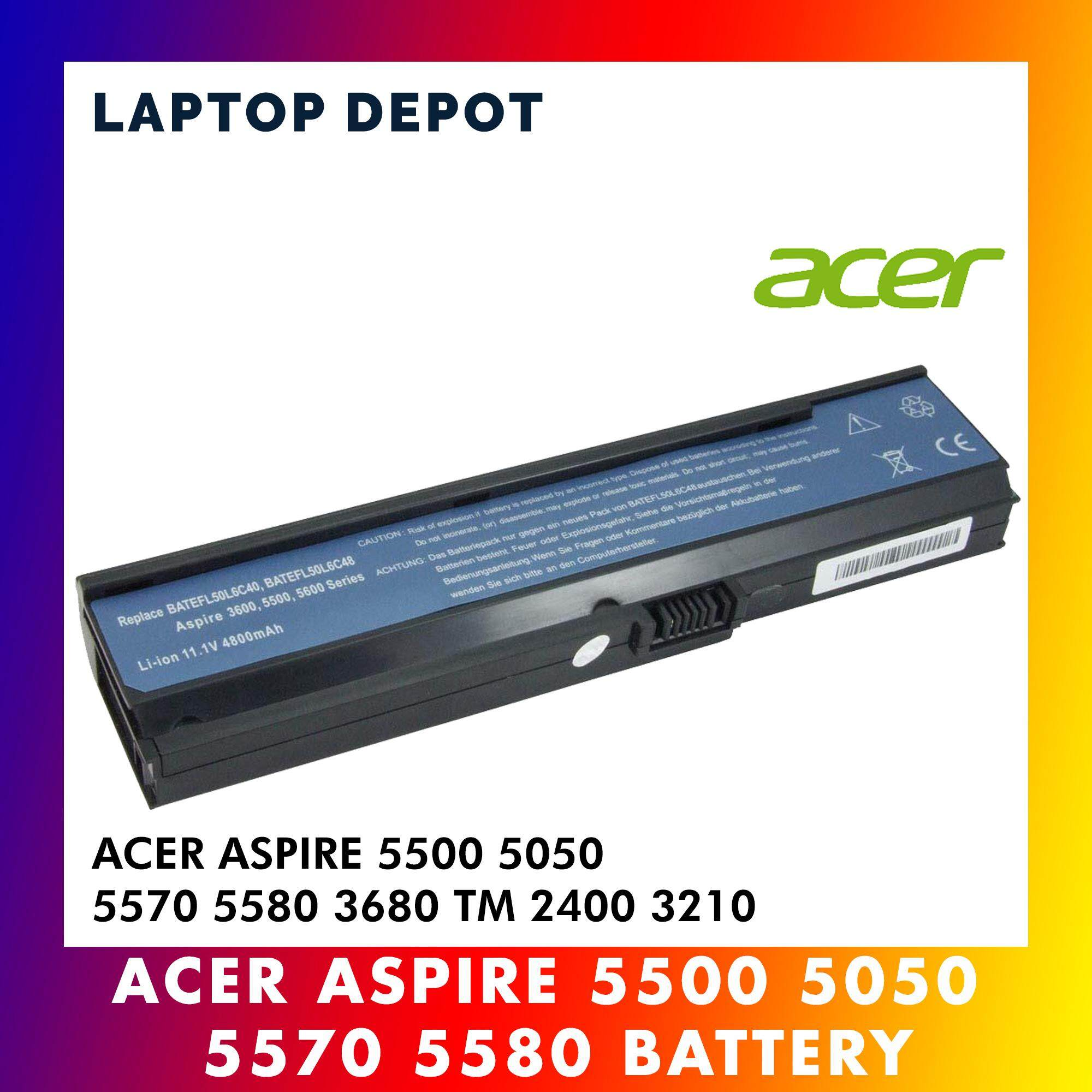 Acer Aspire 3680 5050 5500 5570 5580 Travelmate 2400 3210 3260 Laptop Battery Malaysia