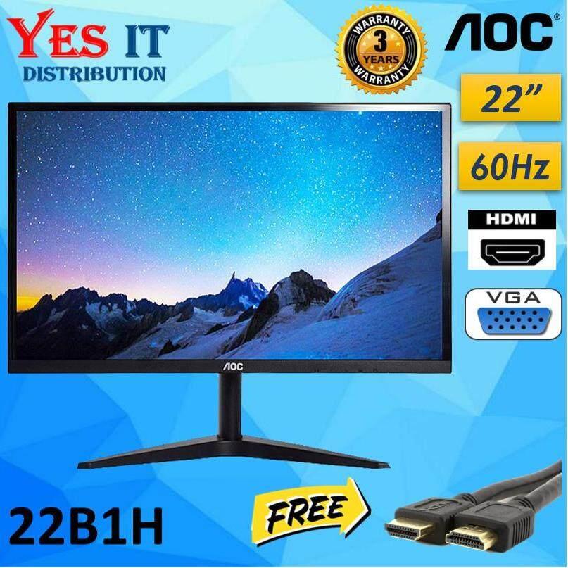 AOC 22B1H 21.5  TN HD 5ms 60Hz Super Slim Profile and Narrow Bezels Monitor (FREE HDMI CABLE) Malaysia