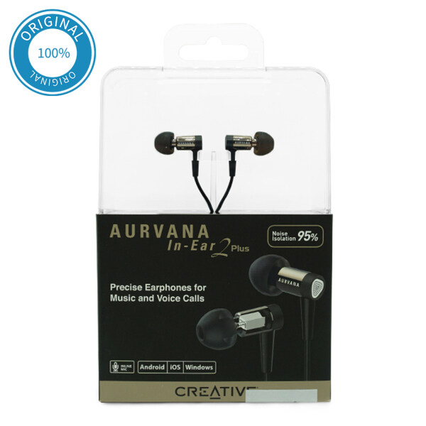 Creative Aurvana In-Ear2 Plus Ultra-comfortable Noise-isolating In-ear Earphones with In-line Remote and Microphone Singapore