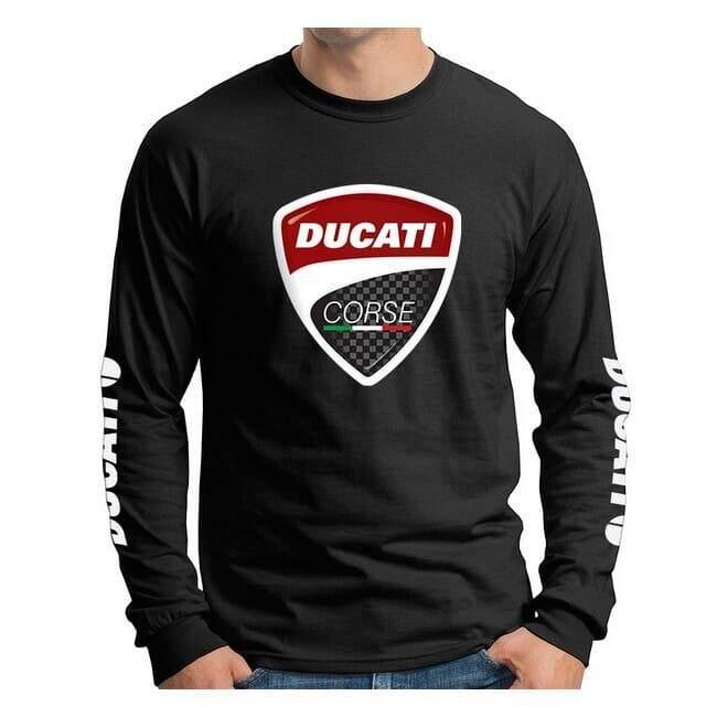 Ducati Bike Motorcycle Racing Motogp 100% Cotton Long Sleeve T-Shirt 1