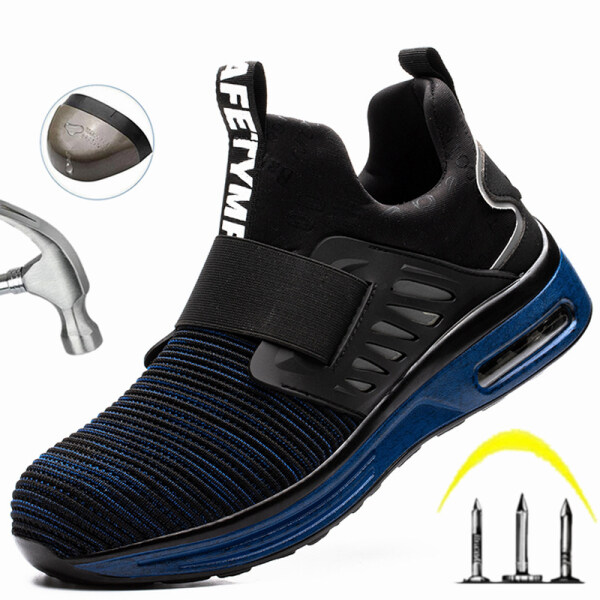 Lightweight Safety Shoes for Men 2020 New Work Shoes Men Indestructible Work Sneakers Reflective Safety Shoes