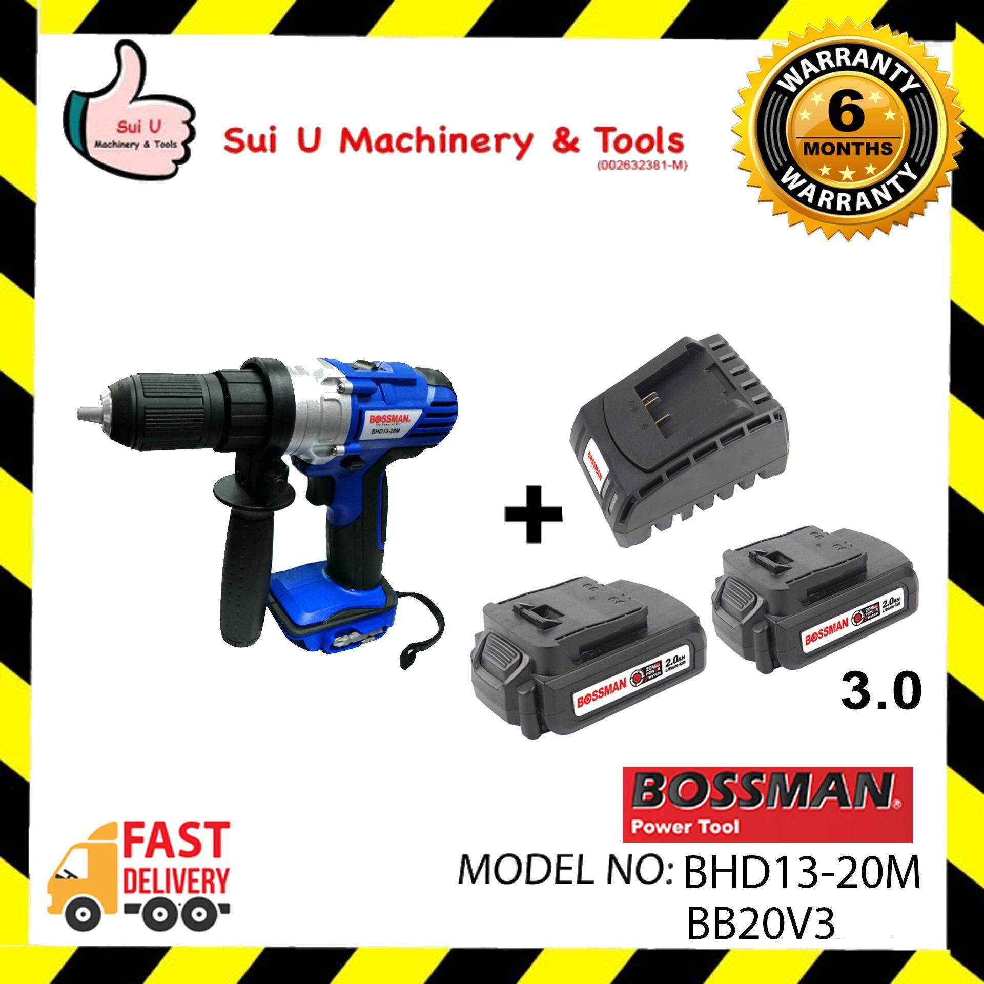 Bossman BHD13-20M 20V Cordless Hammer + 2pc Battery 3.0