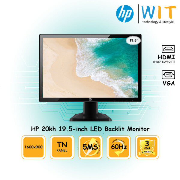 HP 20kh Monitor - 19.5 / 5ms / TN Panel / HDMI / VGA Malaysia