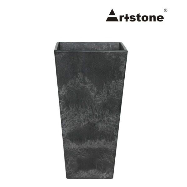 Artstone+ Decorative Flower Vase / Pasu Bunga Tinggi Hiasan / Indoor and Outdoor / Lightweight / Self-Watering Drainage System / Modern Marble Stone Look / Ella D26 H49