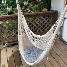 【Sikiwind】comfortable Bông Lớn Dây Võng Ghế Lồng Treo Thức Ăn Cho Chim Cảnh Cầm Tay Ghế Sử Dụng Ngoài Trời Trong Nhà