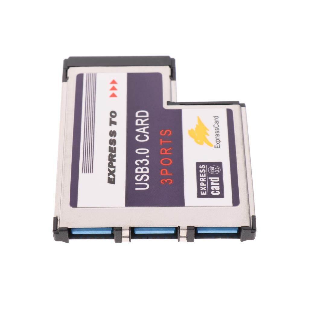 Baoblade USB3.0 Multi-Ports 3 Port Flush Mount Express Card 34mm SuperSpeed USB 3.0 Adapter Card