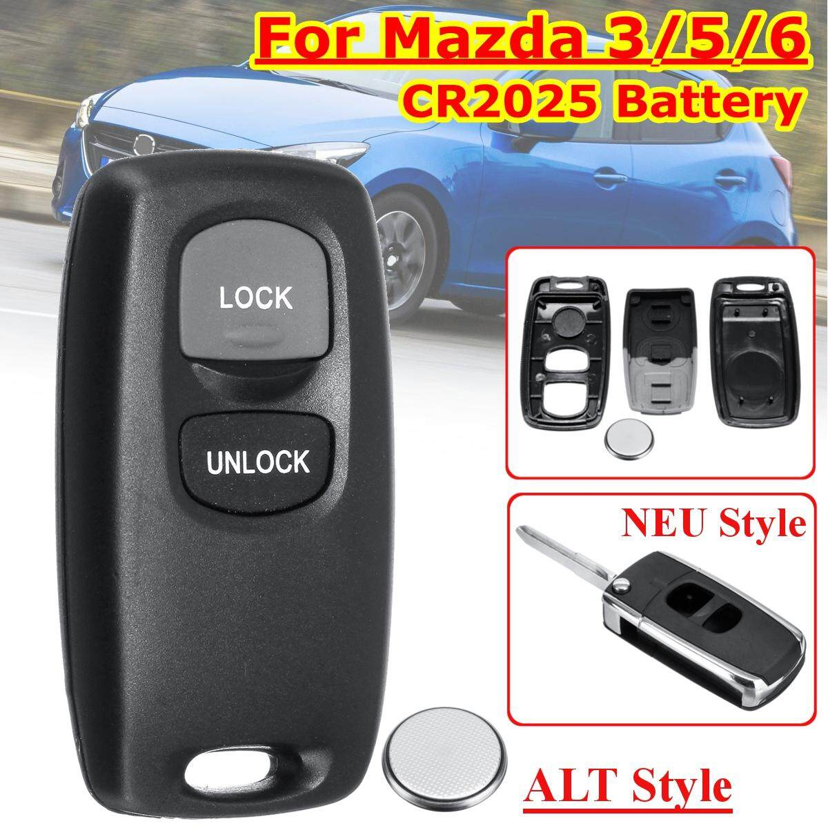 【Free Shipping + Flash Deal】2 Buttons Remote Key Shell Case CR2025 Bat-tery For Mazda 3/5/6