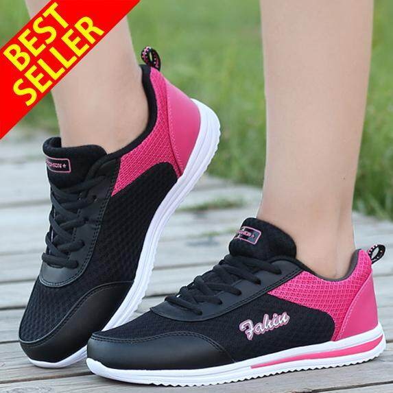 Qingshui Women Running Shoes Jogging Lady Outdoor Athletic Sports Flat Shoes Breathable Sneakers By Pr-Store.