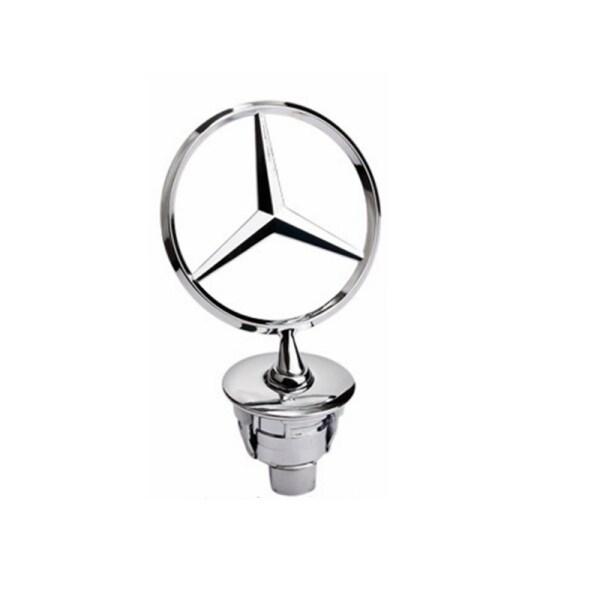 Mui Xe Nắp Ca-pô Logo Dọc Cho Mercedes Benz Nắp Động Cơ Đứng Biểu Tượng Huy Hiệu Bạc Phía Trước W210 W220 W211