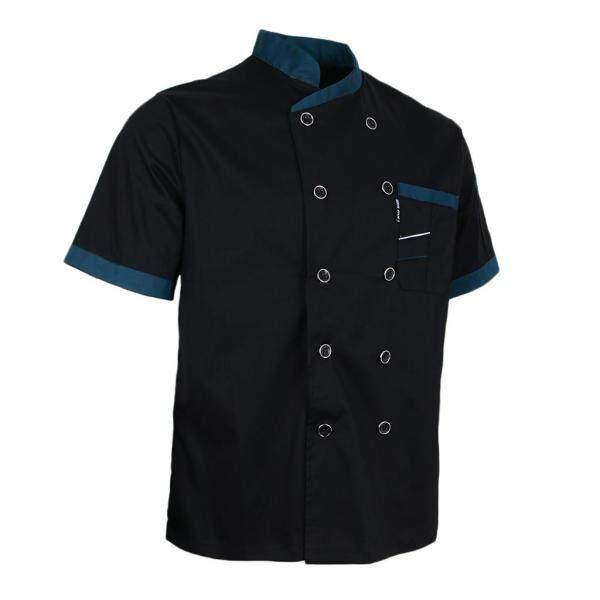 Perfk Summer Breathable Chef Jacket Coat Kitchen Bakery Chefs Uniform Short Sleeve