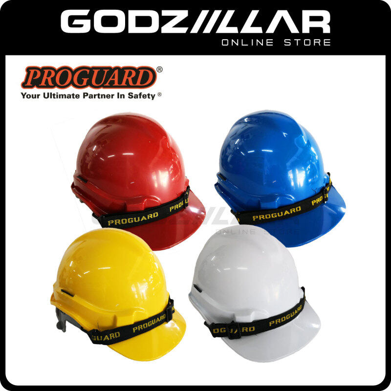 PROGUARD Safety Helmet - SIRIM CERTIFIED - (Yellow/White/Blue/Red) HG1-PHSL READY STOCK