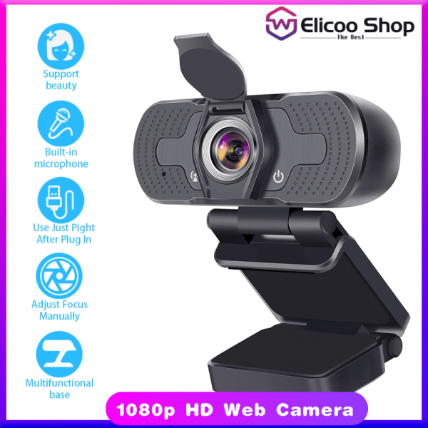 Full HD Webcam 1080P 4K USB Web Camera PC with Built-in Microphone Autofocus for Computer Work Online Class