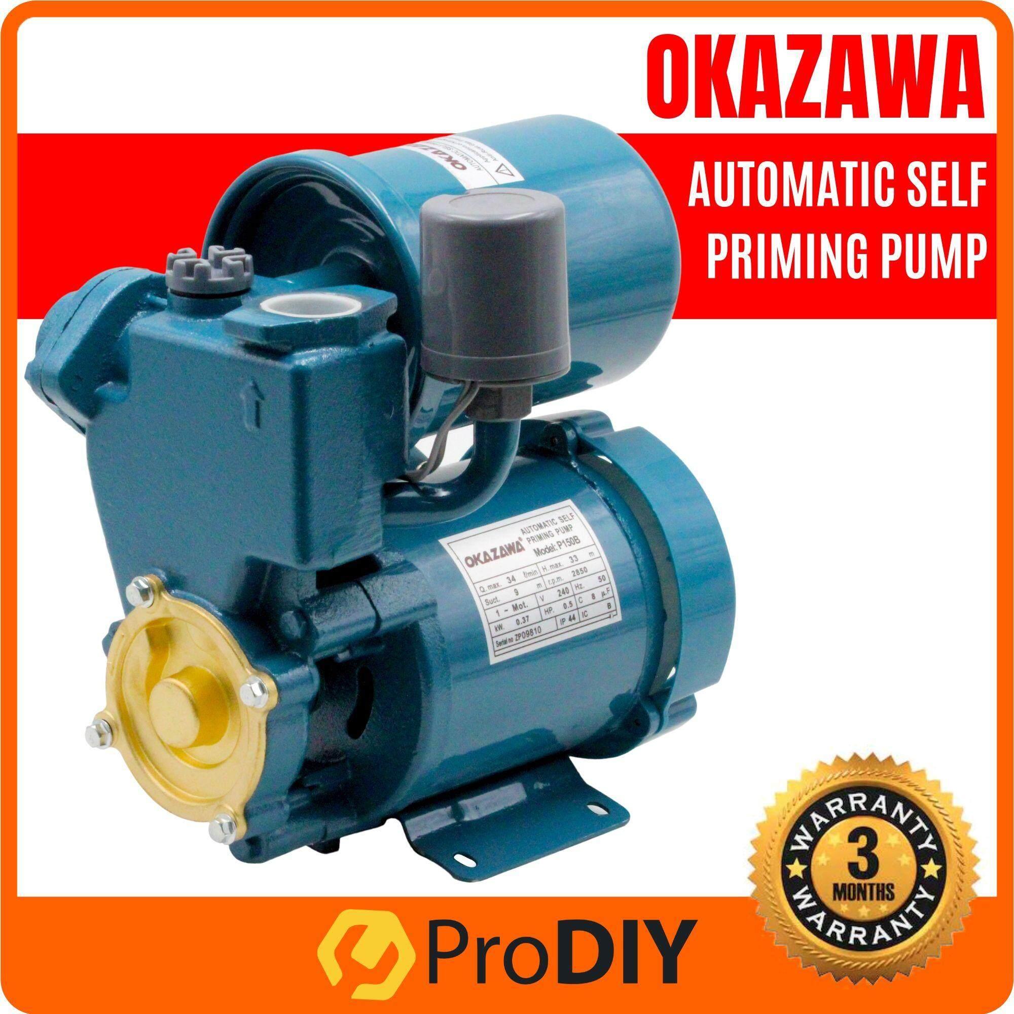 OKAZAWA Self Priming Automatic Water Pump 0.5HP ( P150B )
