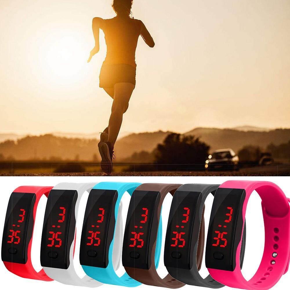 1Pcs jam tangan kanak kanak Led Silicone Sports Wrist Watch Digital Watches Children Electronic Watch Malaysia