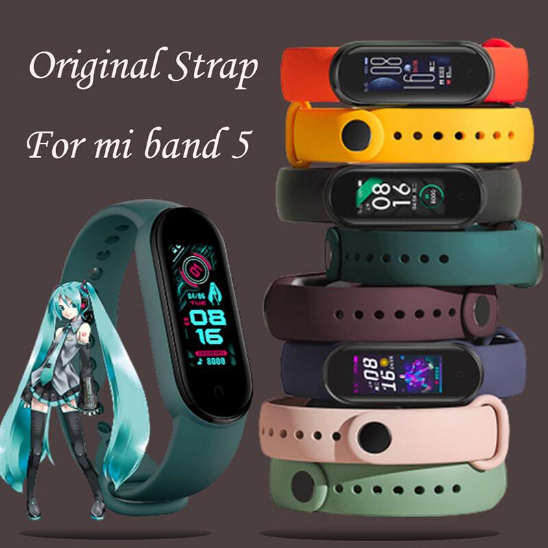 NEEKFOX Vòng đeo cổ tay Xiao Mi Band 5 đầy màu sắc bằng silicone TPU mềm thiết kế mới nhất...