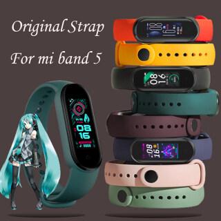 NEEKFOX Vòng đeo cổ tay Xiao Mi Band 5 đầy màu sắc bằng silicone TPU mềm thiết kế mới nhất - INTL thumbnail