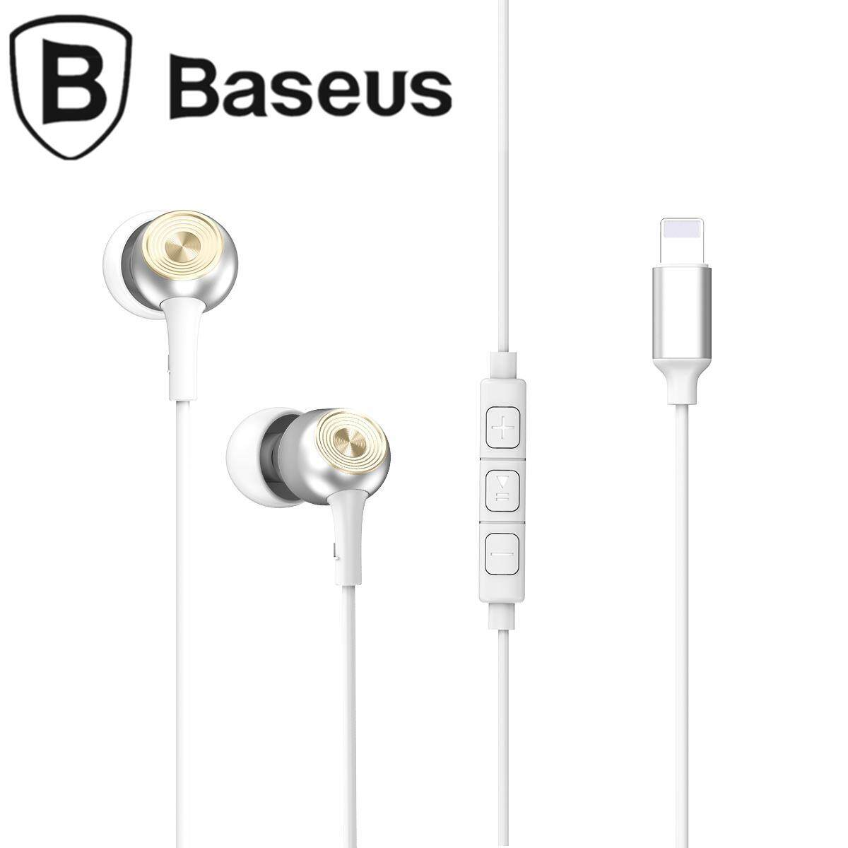 BASEUS Encok P02 Lightning 8-pin Wired Voice Control Earphone Headphone  with Mic for iPhone 3c767f370987a