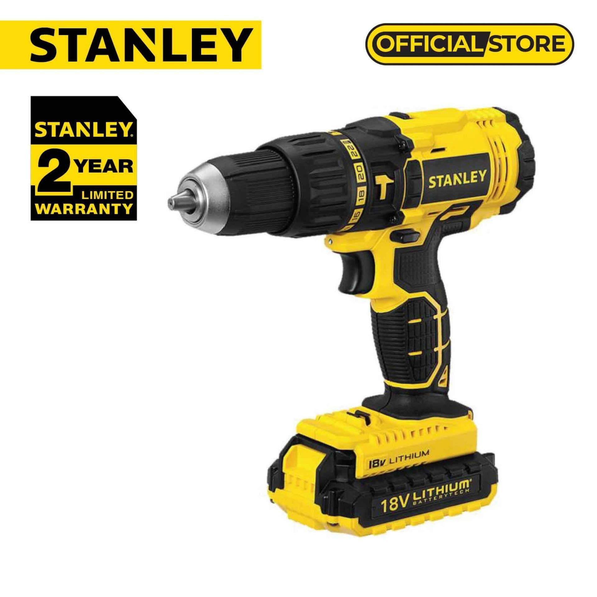 Stanley SCH20C2K-B1 Stanley 20V Hammer Drill Cordless Driver 2x20V/1.3Ah