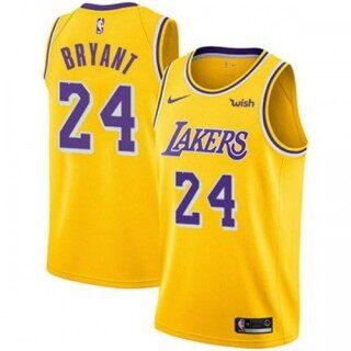 Áo Nam Chính Hãng Los Angeles Lakerss 24 Kobee Bryantt Phiên Bản Biểu Tượng Vàng Swingman Jersey thumbnail