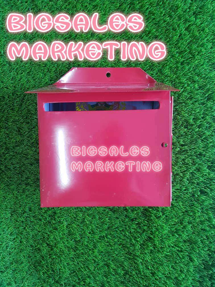 BIGSALES Iron Metal Post Letter Box / Peti Surat Besi