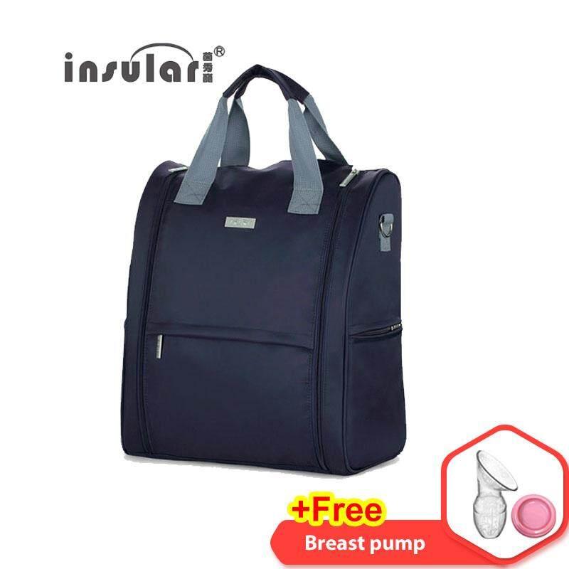 8537bd47369027 Insular Lightweight Multi-function Diaper Bag Large Capacity Waterproof  Antimicrobic Mummy Tote Bag Smart Organizer