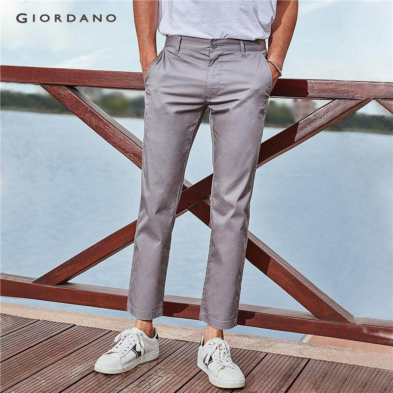 0981c8f259e6d8 Giordano Men Chinos Khakis Men's Ankle-Length Casual Pants Mid-Low Rise  Slim Fit
